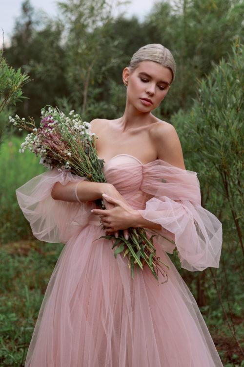 нюдовое платье из шифона прокат москва