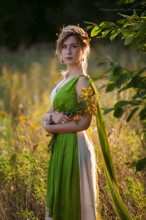 Греческая богиня Деметра, костюм богини взрослый