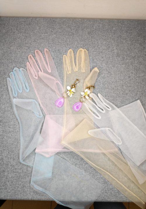 Перчатки прозрачные из фатина