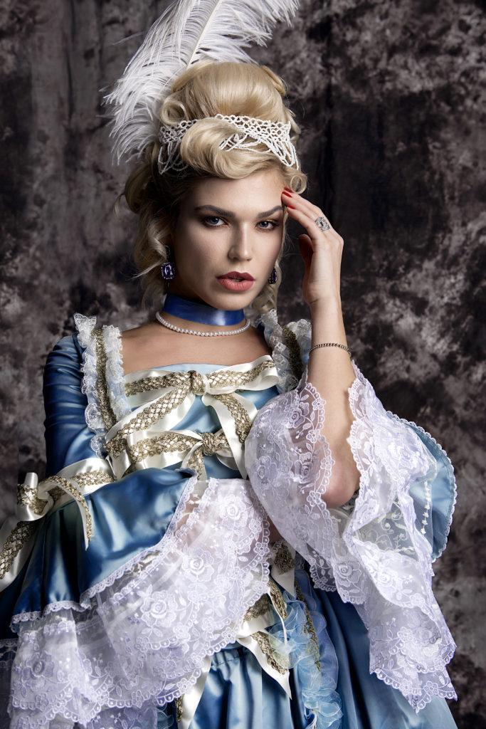 историческая прическа+макияж