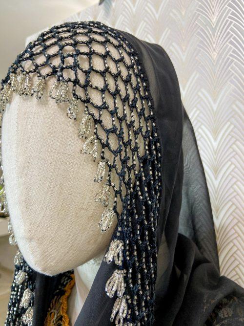 Чёрный платок с бисером прокат